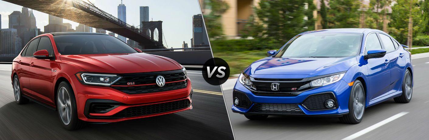 2019 Volkswagen Jetta GLI vs 2019 Honda Civic Si Sedan