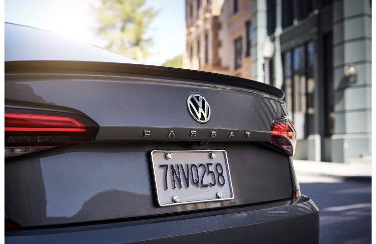 2020 Volkswagen Passat exterior closeup of trunk and Passat name badge