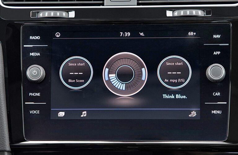 Volkswagen golf touchscreen display