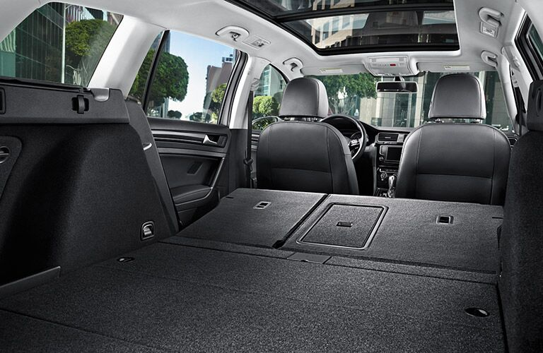 2016 volkswagen golf sportwagen cargo space with rear seats folded down