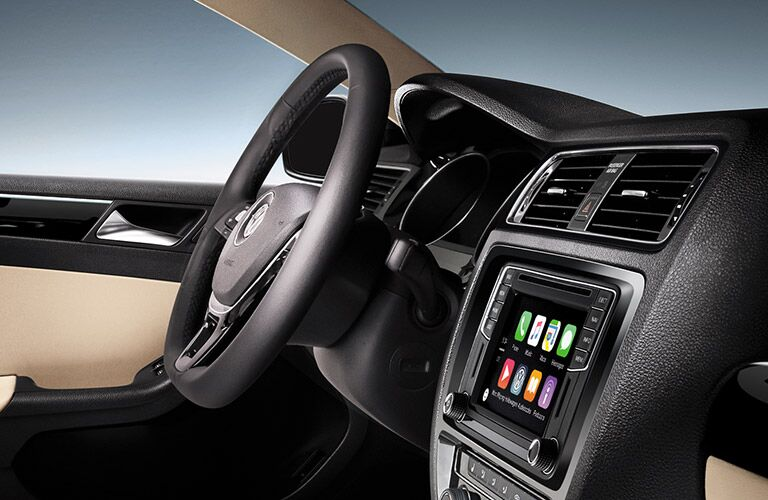 vw jetta with mib ii infotainment and apple carplay