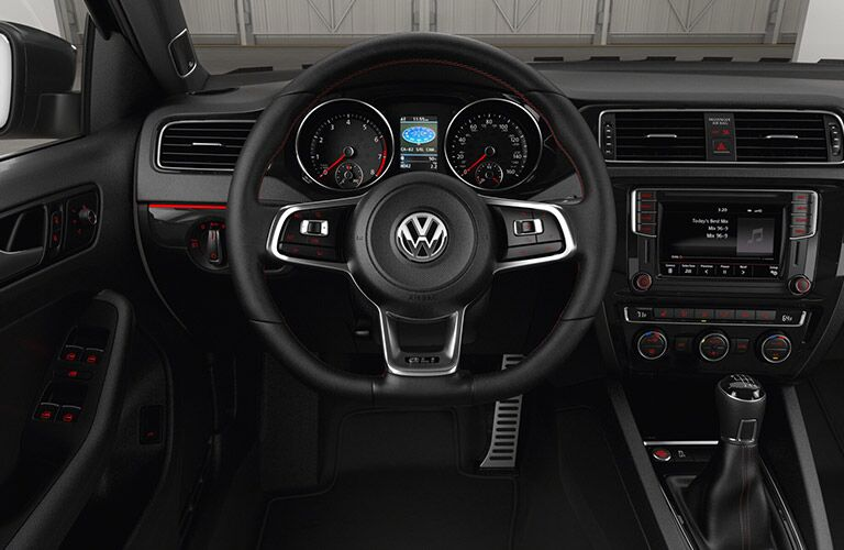 2016 vw jetta with android auto and applecarplay touchscreen infotainment display