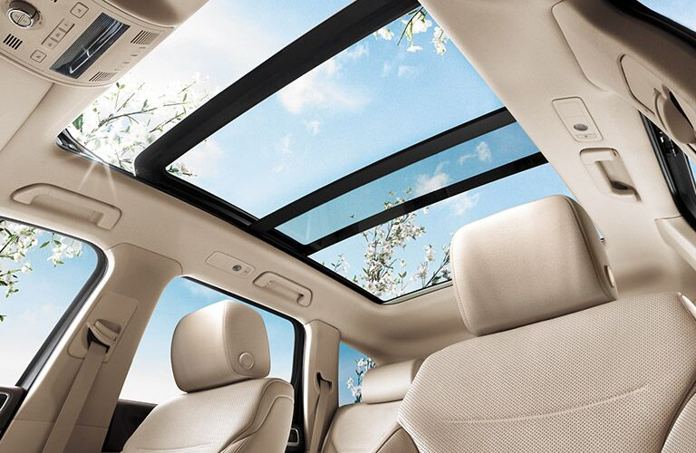 2017 Volkswagen Touareg interior view of panoramic moonroof