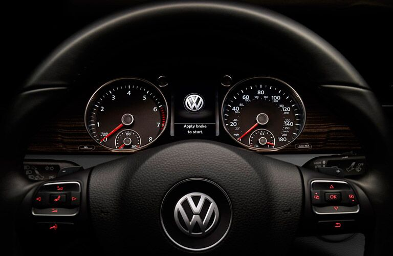 2017 Volkswagen CC interior steering wheel gauges