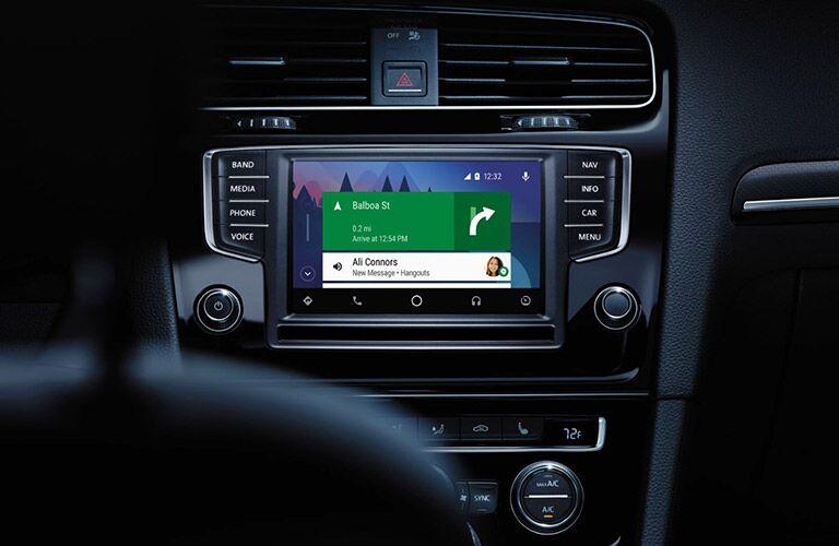 2017 Volkswagen Golf R interior infotainment system