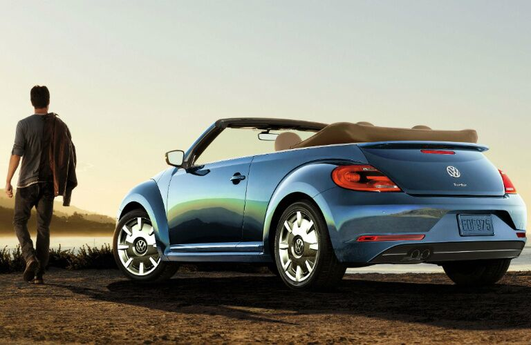 2017 Volkswagen Beetle Convertible top down at the beach