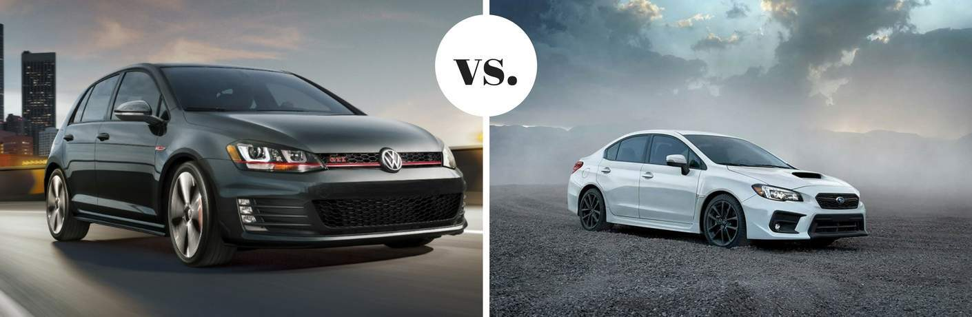 2017 Volkswagen Golf GTI vs 2017 Subaru WRX
