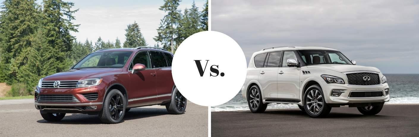 2017 Volkswagen Touareg vs. 2017 Infiniti QX80