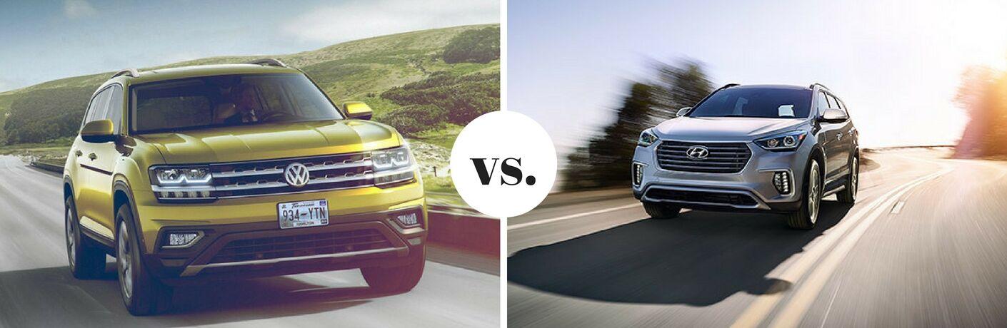 2018 Volkswagen Atlas vs. 2017 Hyundai Santa Fe