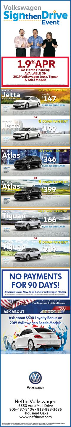 April '19 Volkswagen Print Ad