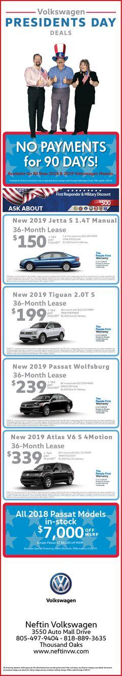 Feb. '19 Presidents Day Deals Ad-Volkswagen
