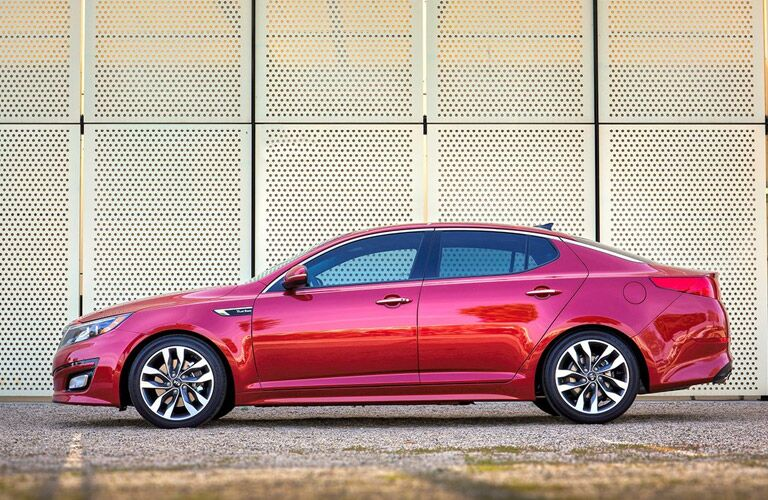 Kia Optima Side View in Red