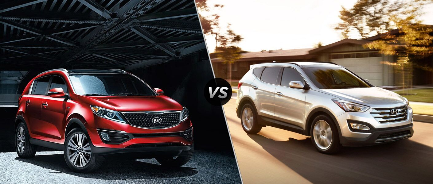 2015 kia sportage vs 2016 hyundai santa fe sport. Black Bedroom Furniture Sets. Home Design Ideas