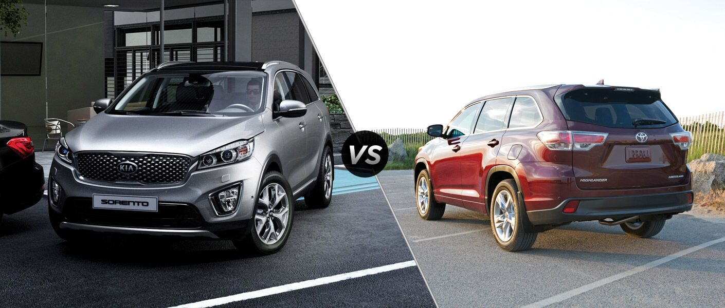 2016 kia sorento vs 2015 toyota highlander. Black Bedroom Furniture Sets. Home Design Ideas