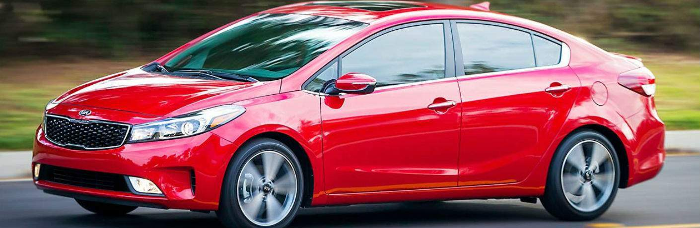 2018 Kia Forte Side View in Red
