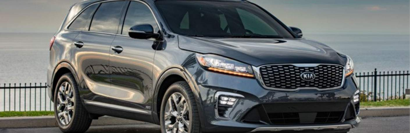 Exterior View of the 2019 Kia Sorento in Gray
