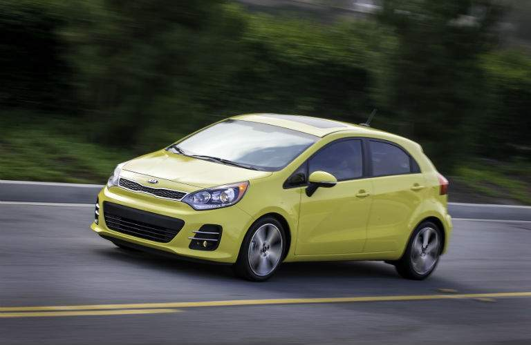 The 2017 Kia Rio offers more cargo space than the Chevy Spark