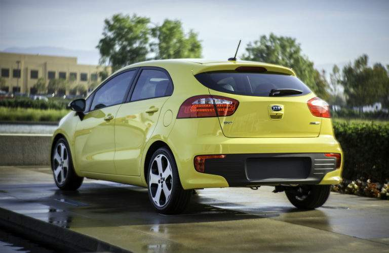 Smooth lines make the 2017 Rio hatchback an impressive option