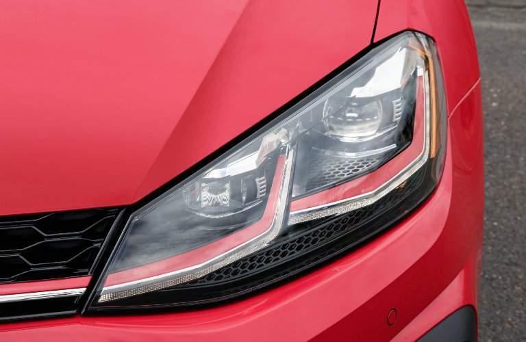 2018 Volkswagen Golf GTI closeup of headlight