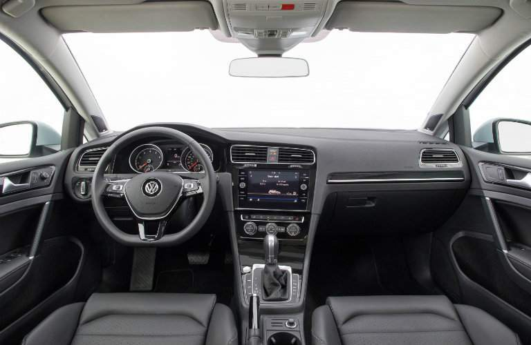 2018 Volkswagen Golf seating, transmission, dashboard