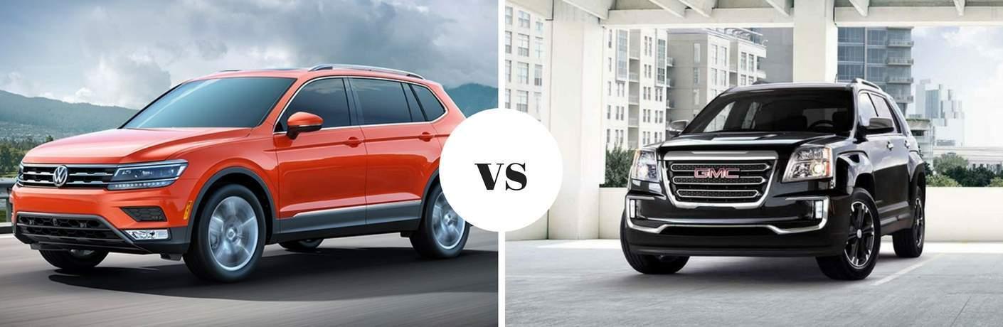 2018 Volkswagen Tiguan vs 2018 GMC Terrain