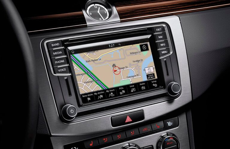 navigation system in the 2017 vw cc