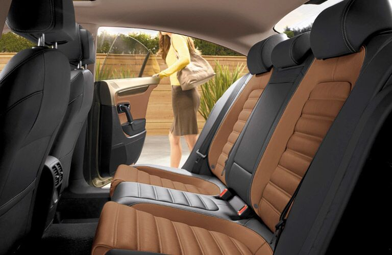 two tone brown and black seats in the 2017 vw cc