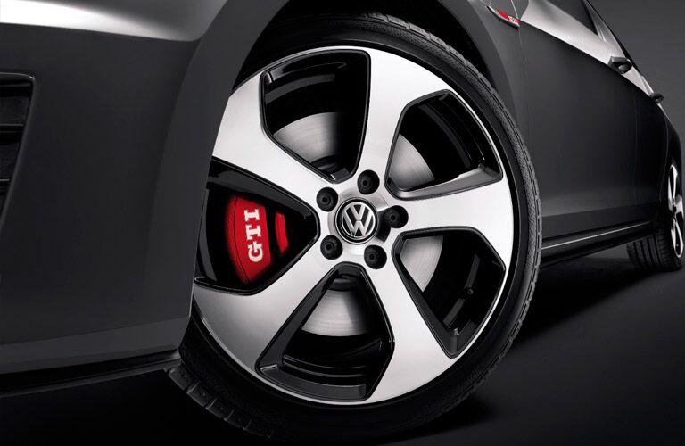 2017 vw golf gti wheel and brakes design