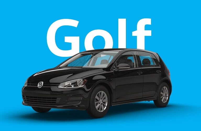 Volkswagen Golf front and side profile