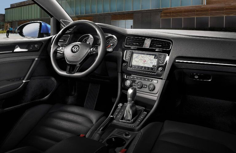 vw golf interior design and features