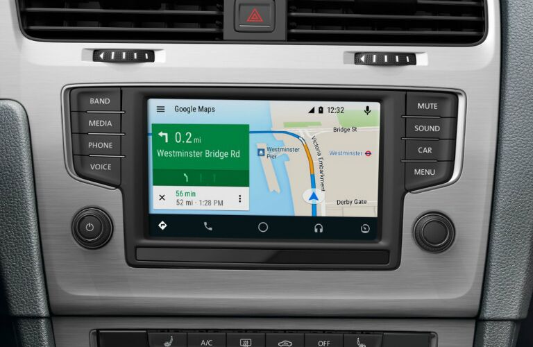 2017 vw golf with android auto navigation