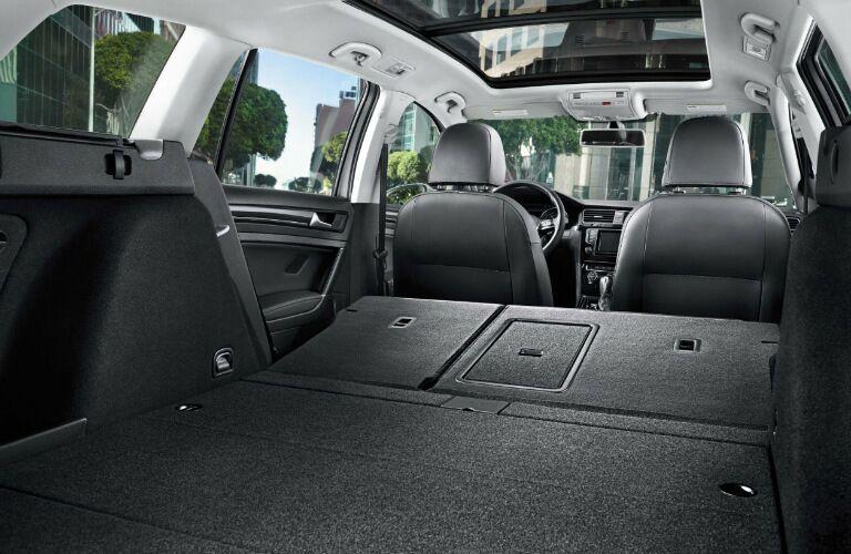 2017 Volkswagen Golf SportWagen with rear seats folded down