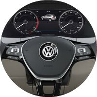 2018 VW Atlas interior instrument cluster
