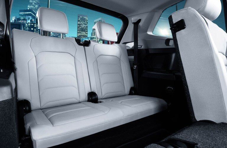 2018 VW Tiguan White Interior Rear Seats