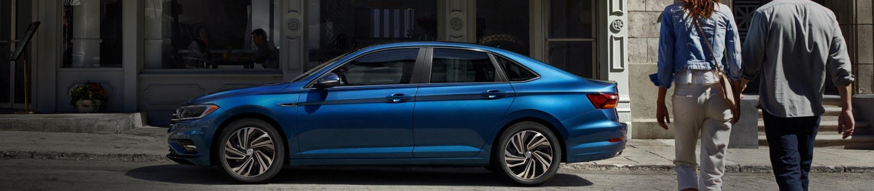 full view of 2019 jetta parked