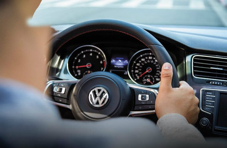 steering wheel buttons and design in the 2016 vw golf gti