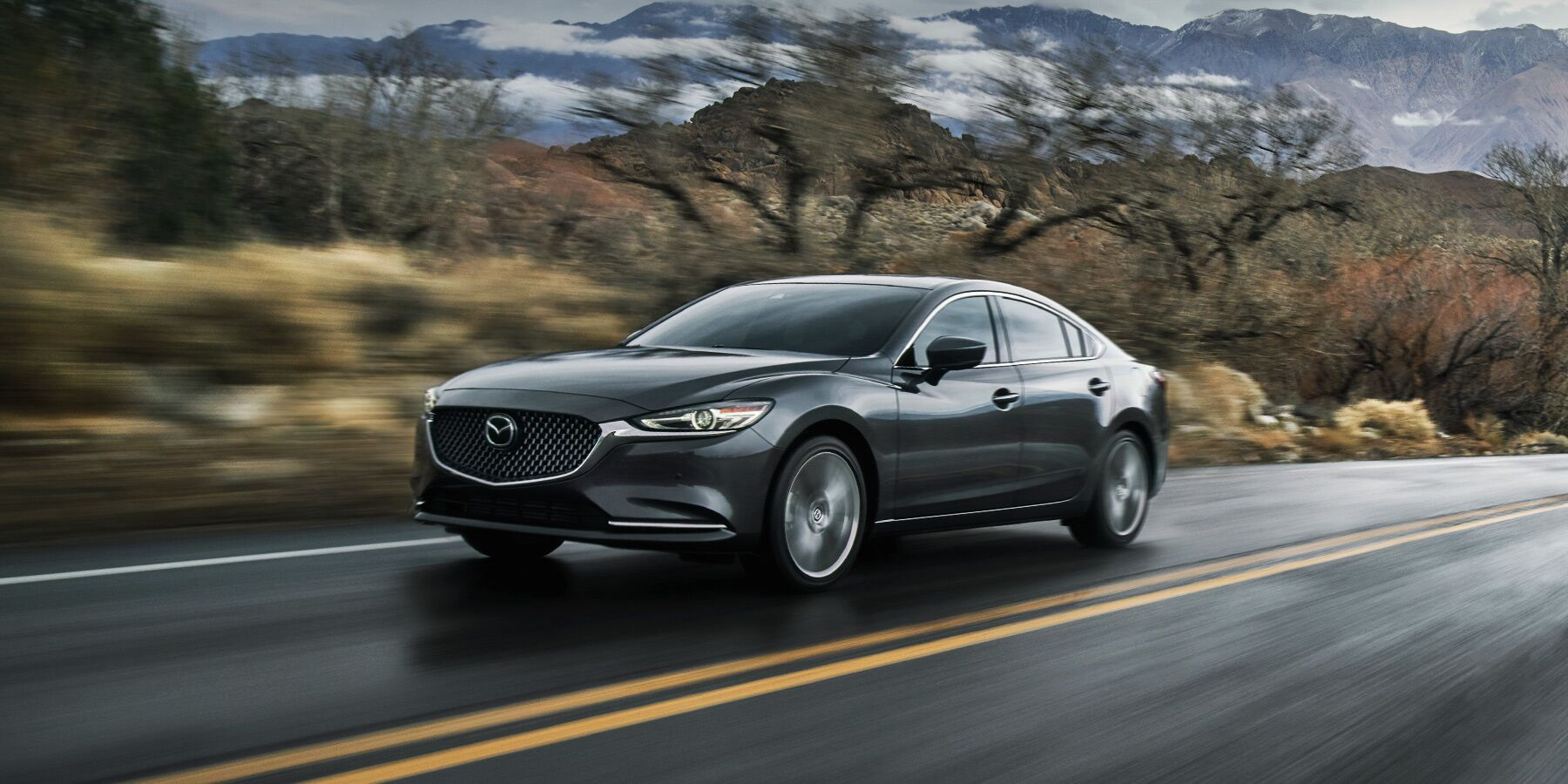 2020 Mazda6 driving down the highway