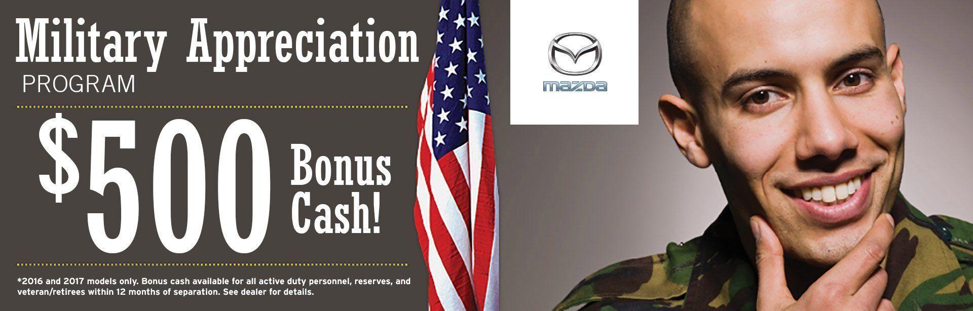 Mazda Military Bonus