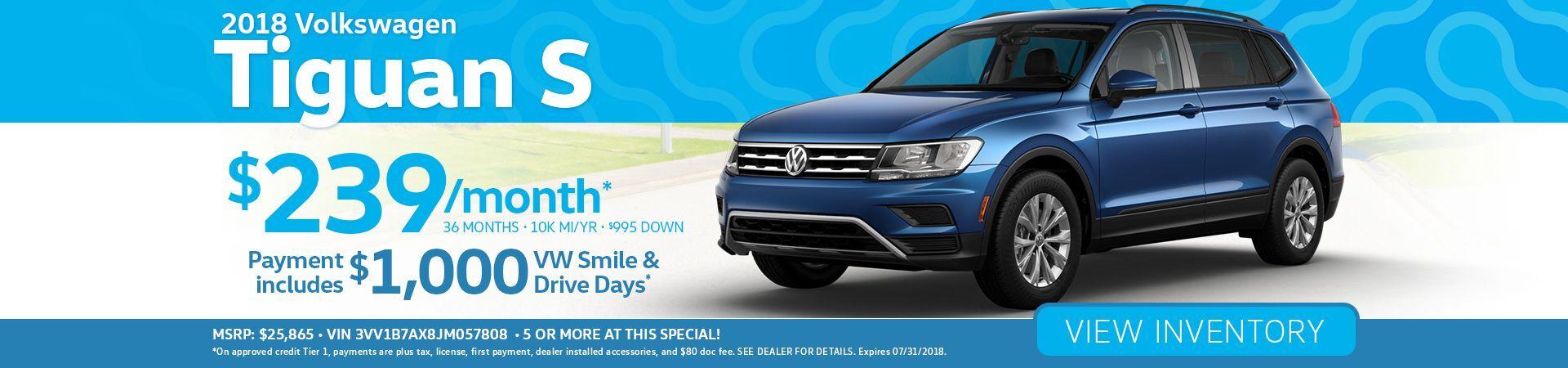 Volkswagen Tiguan Specials