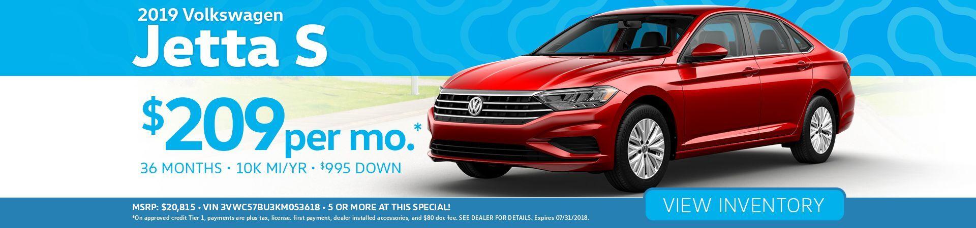 Volkswagen Jetta Specials