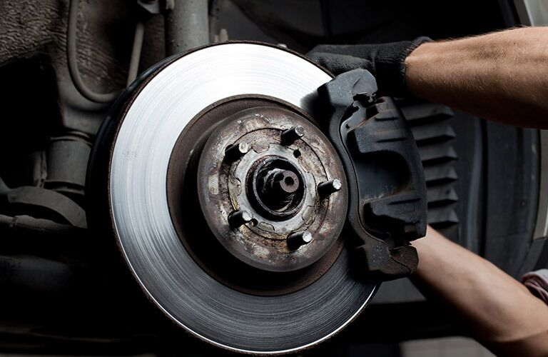 Closeup of  car brake