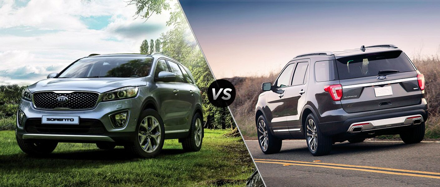 2016 Kia Sorento vs 2016 Ford Explorer