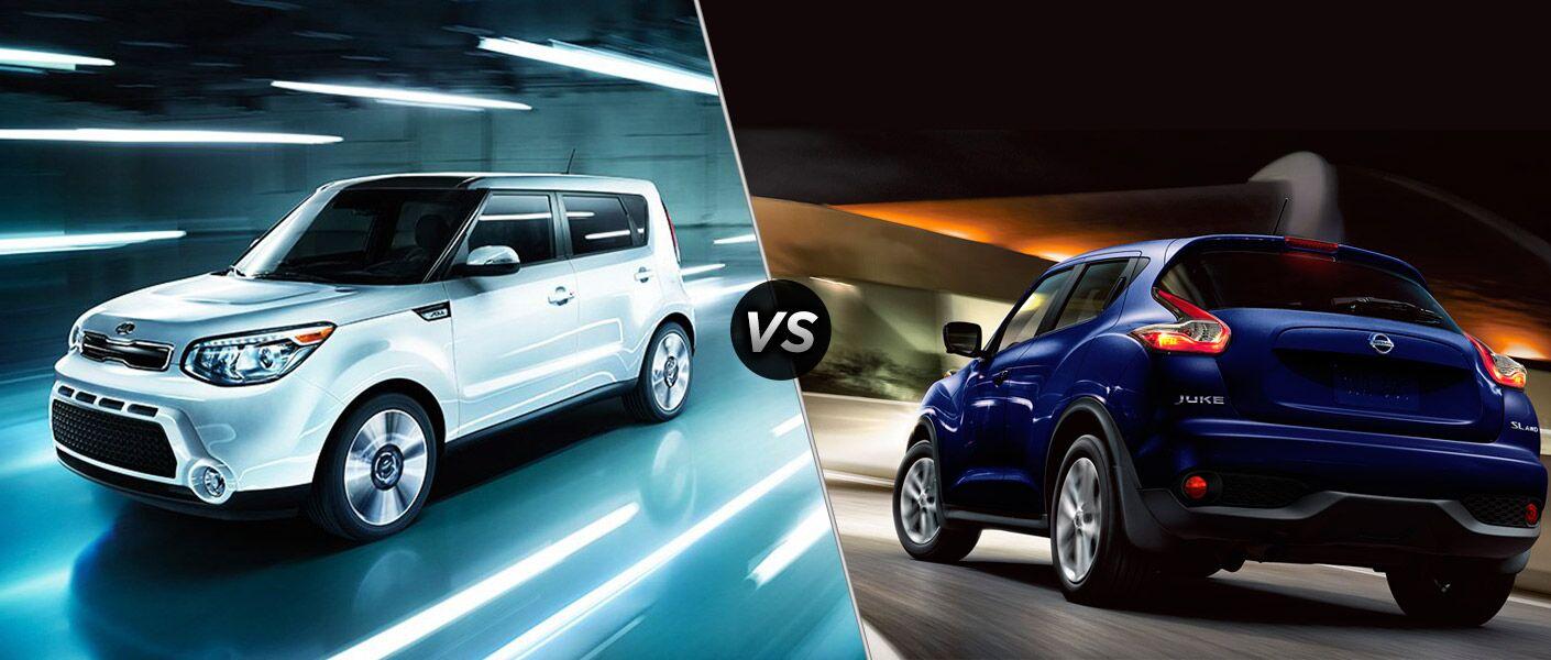 Differences between 2016 Kia Soul vs 2016 Nissan Juke