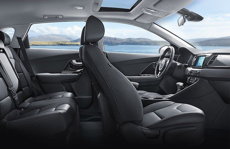 2017 Kia Niro front and back row seats