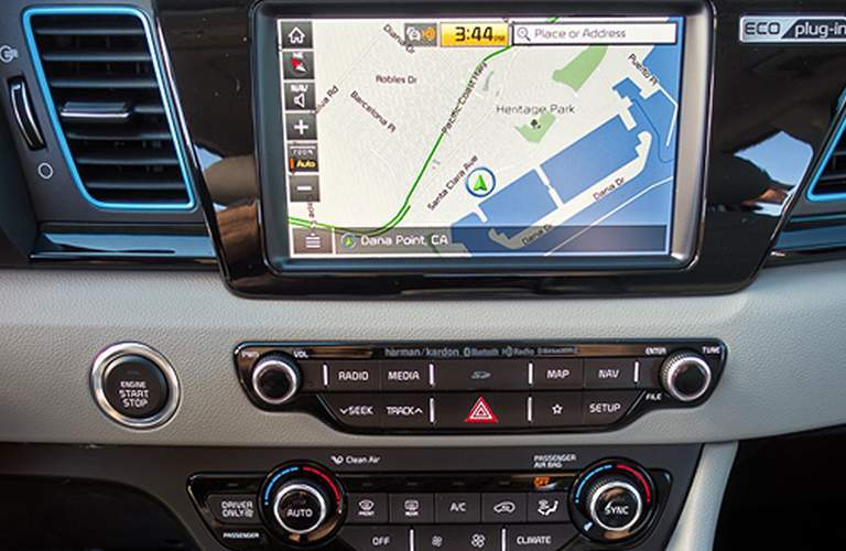 Touchscreen of the 2018 Kia Niro