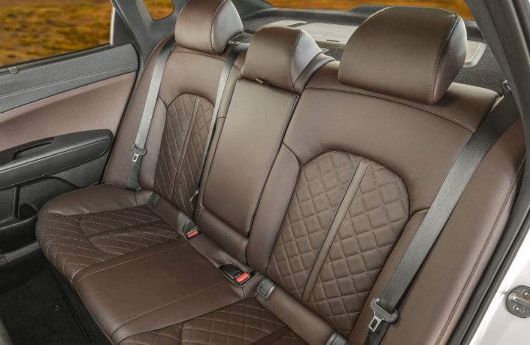 2018 Kia Optima back seats with brown quilted leather