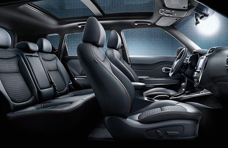 Side view of the 2018 Kia Soul's two rows of seating