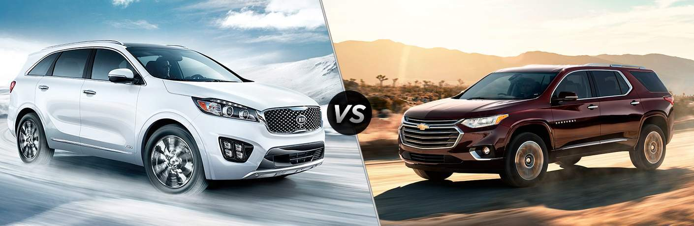 2018 Kia Sorento vs 2018 Chevy Traverse