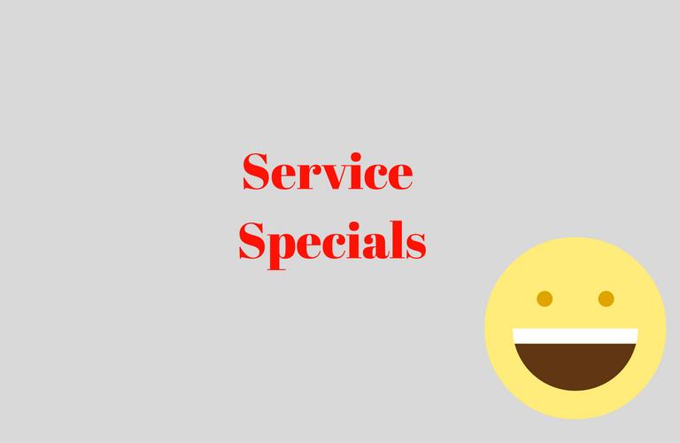 service specials button