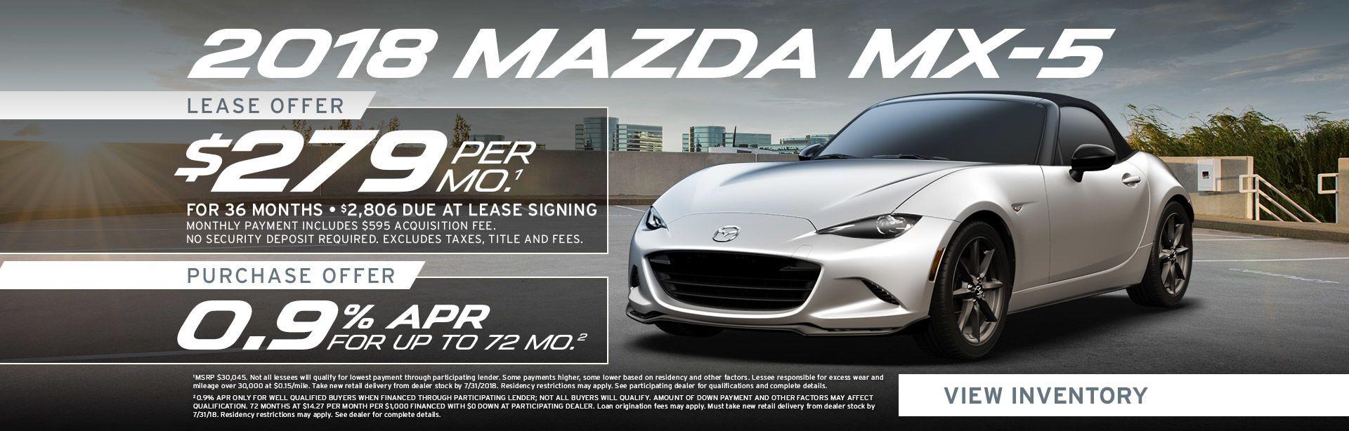Mazda MX-5 Miata Specials